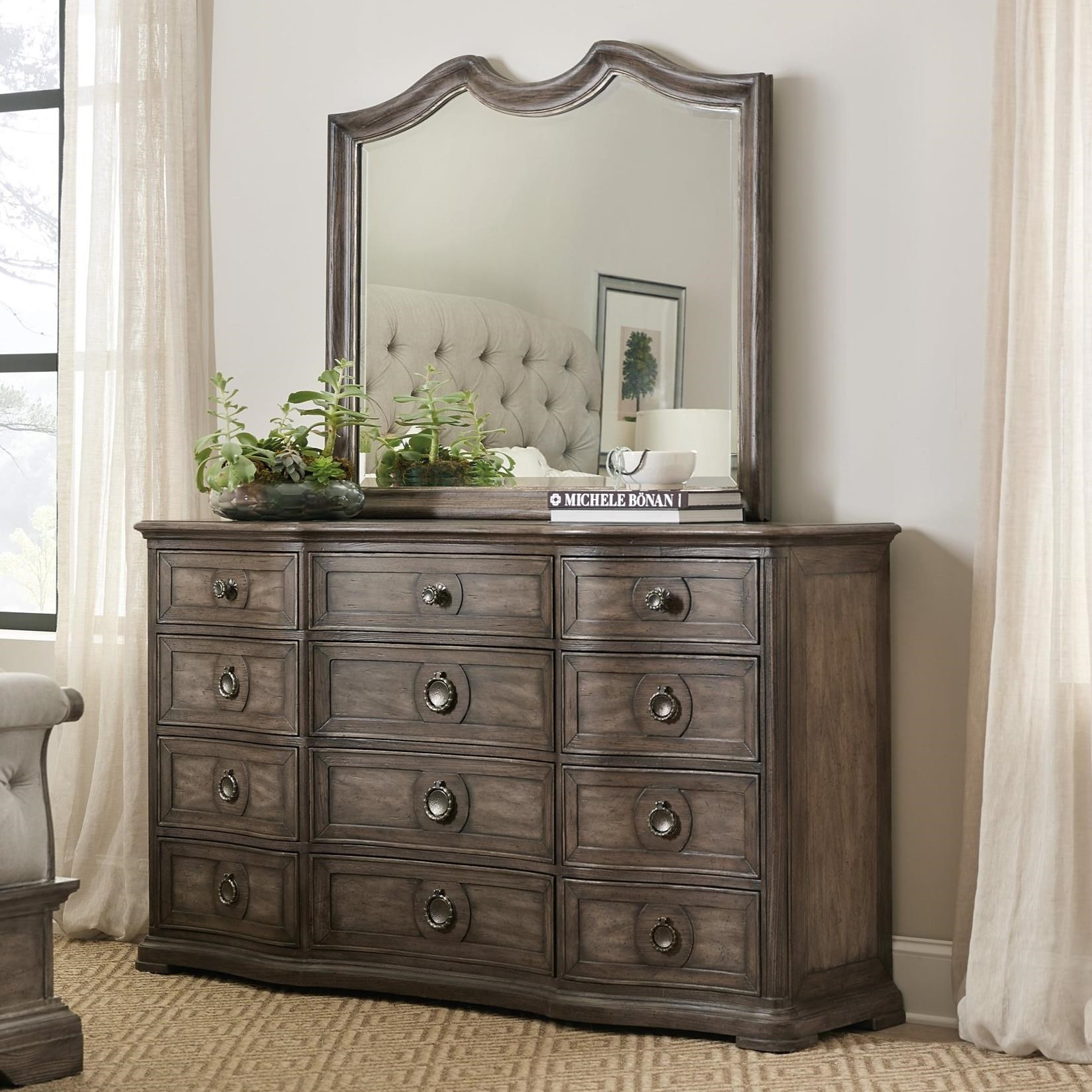 Woodlands Dresser and Mirror Set by Hooker Furniture at Alison Craig Home Furnishings