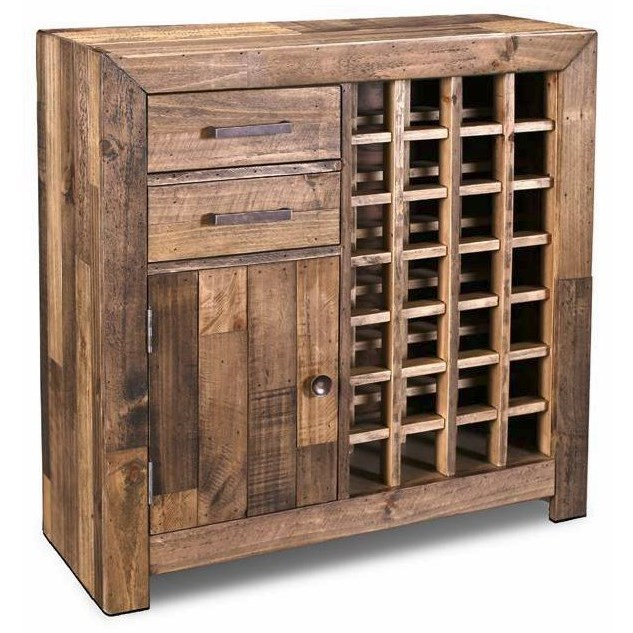 """Boardwalk 38"""" Wine Cabinet by Horizon Home at Home Furnishings Direct"""