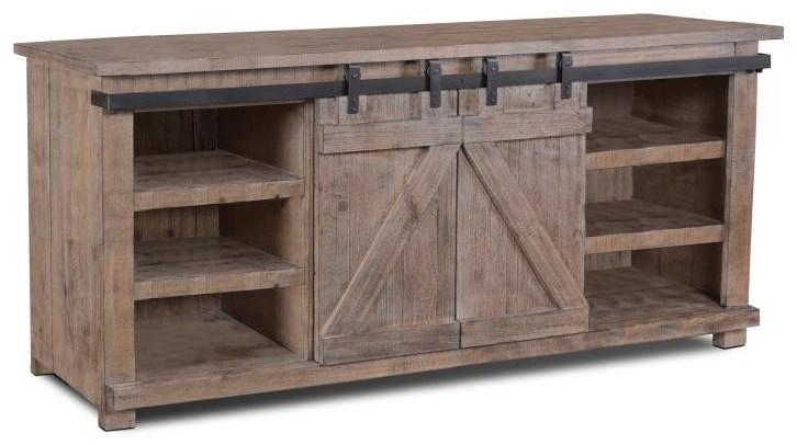 H2115-070 70 INCH BARN DOOR CONSOLE by Horizon Home at Furniture Fair - North Carolina