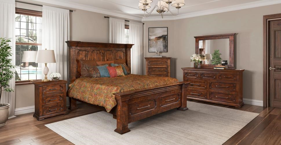 Queen Panel Bed with Storage Package