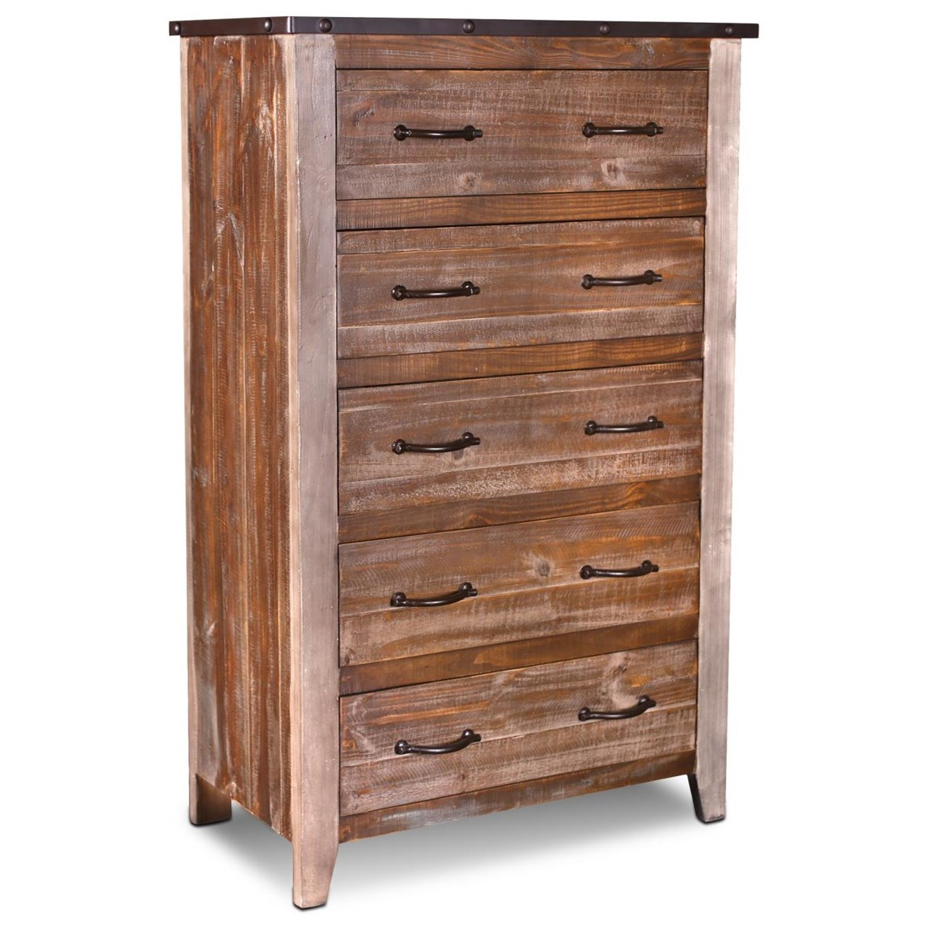Urban Loft 5 Drawer Chest by Horizon Home at Home Furnishings Direct