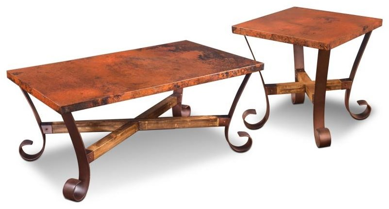 Rectangular Cocktail Table and 2 Square End