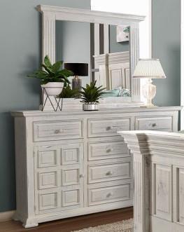 Marquis Fluted Mirror by Horizon Home Imports at Furniture Fair - North Carolina