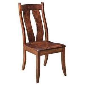 Solid Wood Customizable Side Chair
