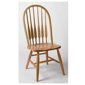 Solid Wood High Back Side Chair