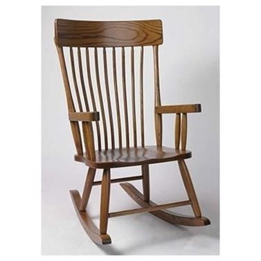 Amish Rocking Chairs Customizable Solid Wood Country Rocker by Horseshoe Bend at Mueller Furniture