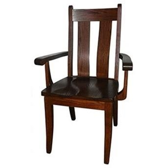 Heritage Customizable Solid Wood Arm Chair by Horseshoe Bend at Mueller Furniture