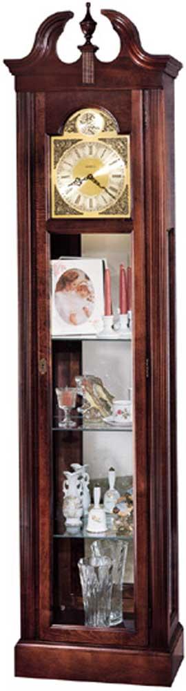 Clocks Cherish Curio Floor Clock by Howard Miller at Alison Craig Home Furnishings
