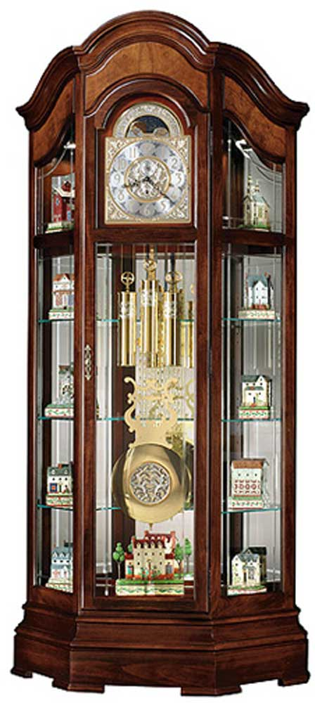 Clocks Majestic II Curio Floor Clock by Howard Miller at Alison Craig Home Furnishings