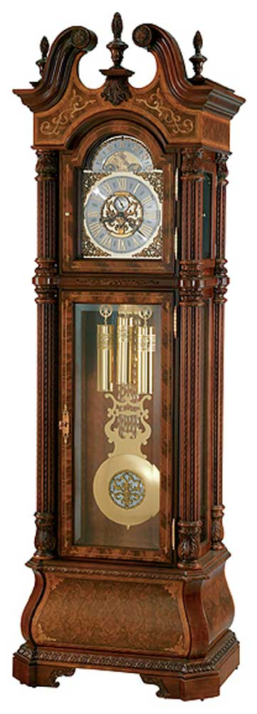 Clocks The J. H. Miller Grandfather Clock by Howard Miller at Alison Craig Home Furnishings