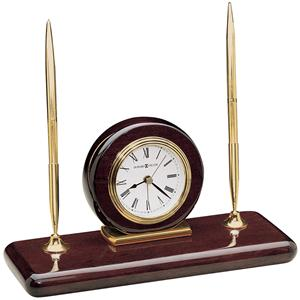 Rosewood Desk Set Table Clock