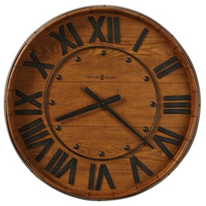 Wine Barrel Wall Clock