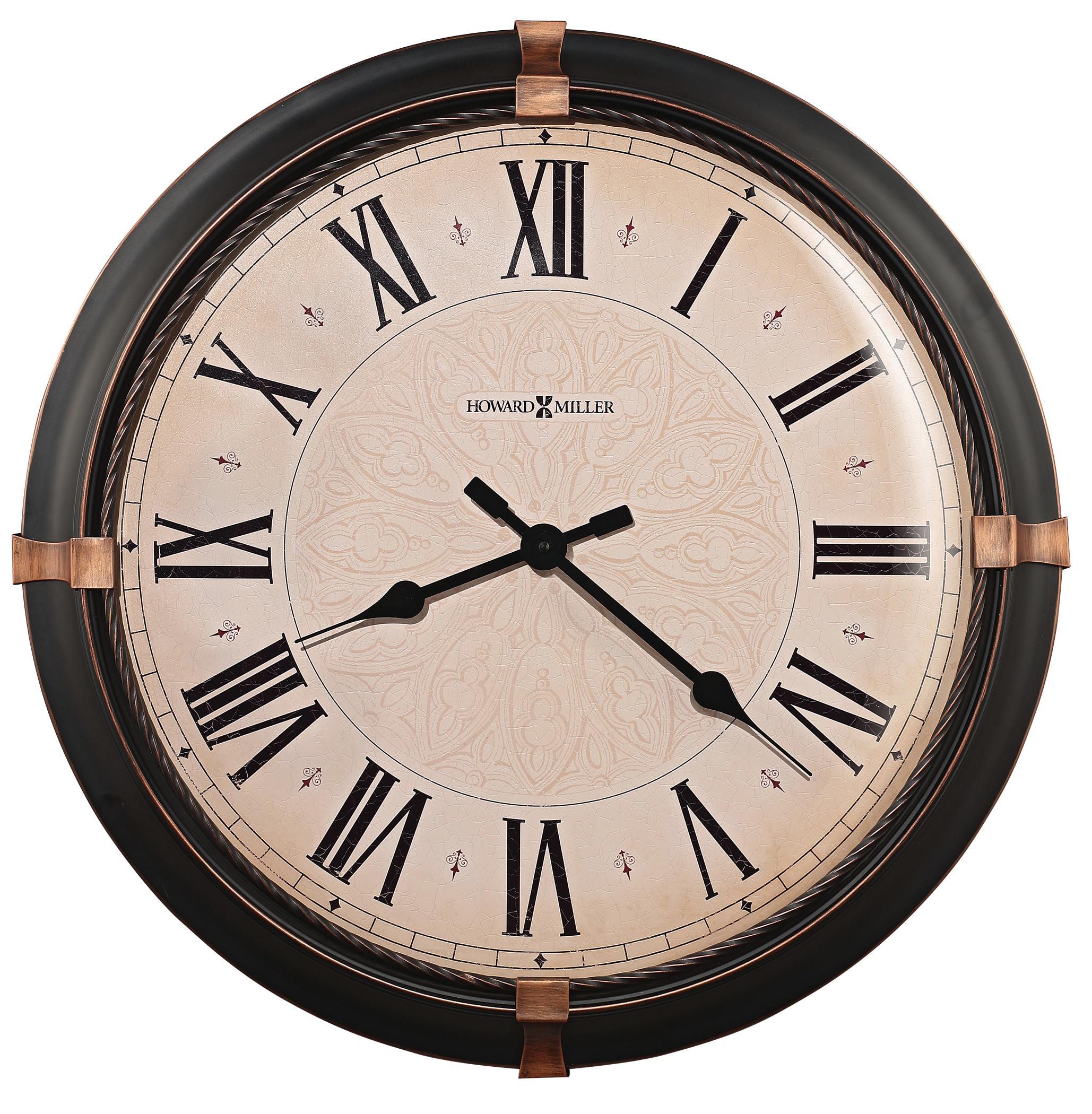 Wall Clocks Atwater Wall Clock by Howard Miller at Alison Craig Home Furnishings