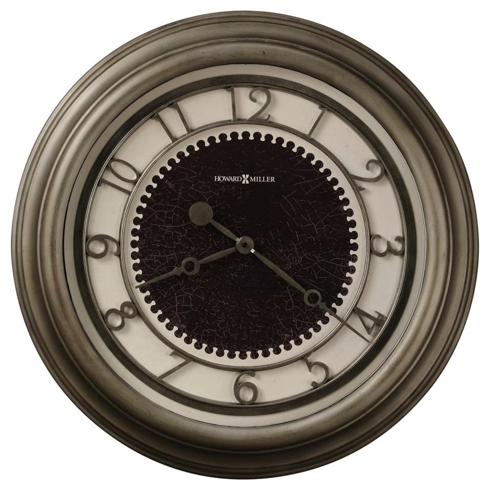 Wall Clocks Kennesaw Metal Wall Clock by Howard Miller at HomeWorld Furniture