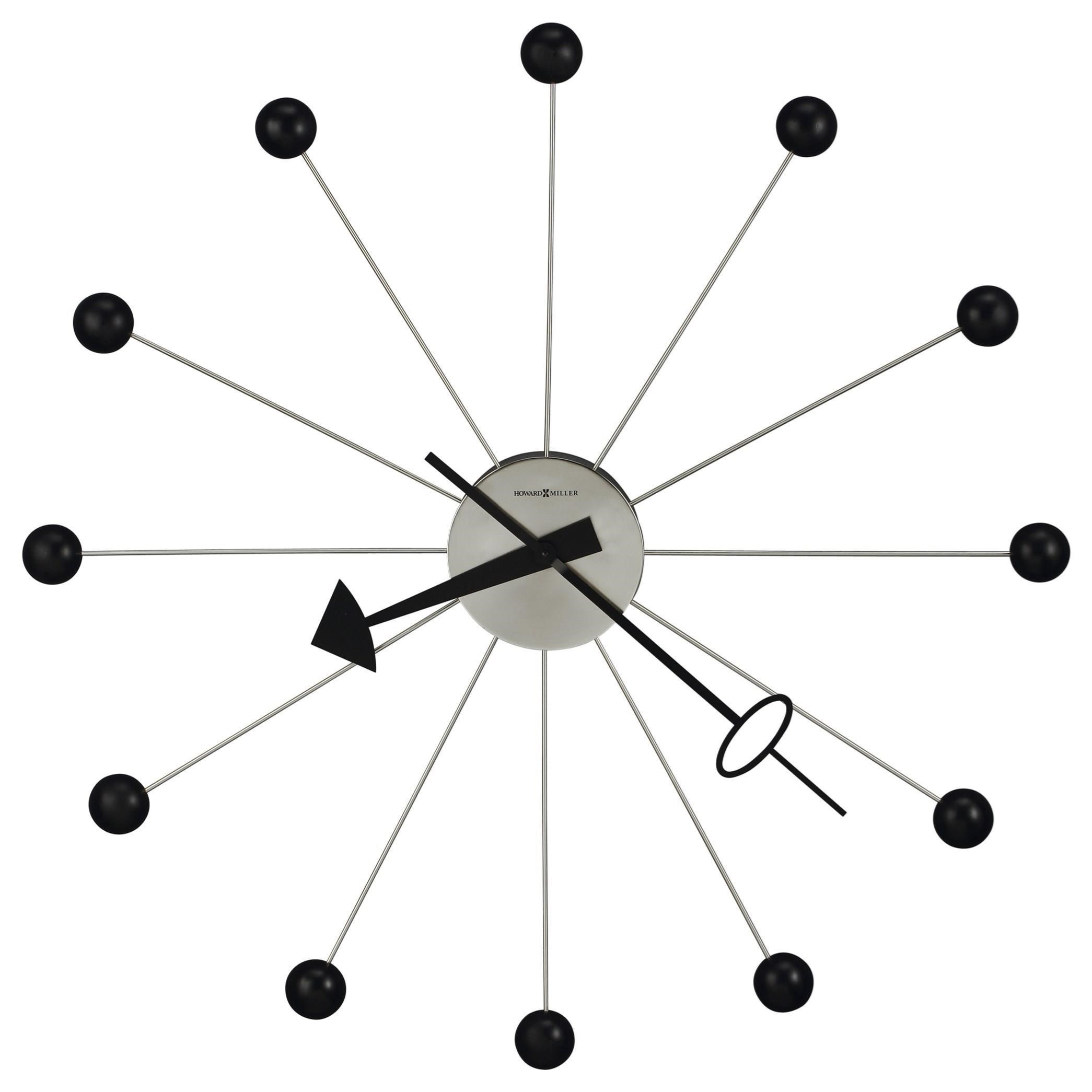 Wall Clocks Ball Wall Clock II by Howard Miller at Prime Brothers Furniture