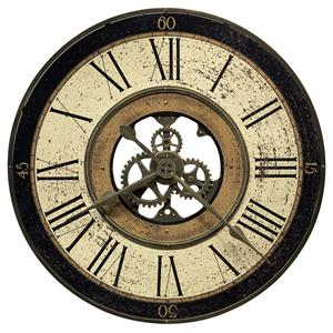 Brass Works Wall Clock with Visible Gears