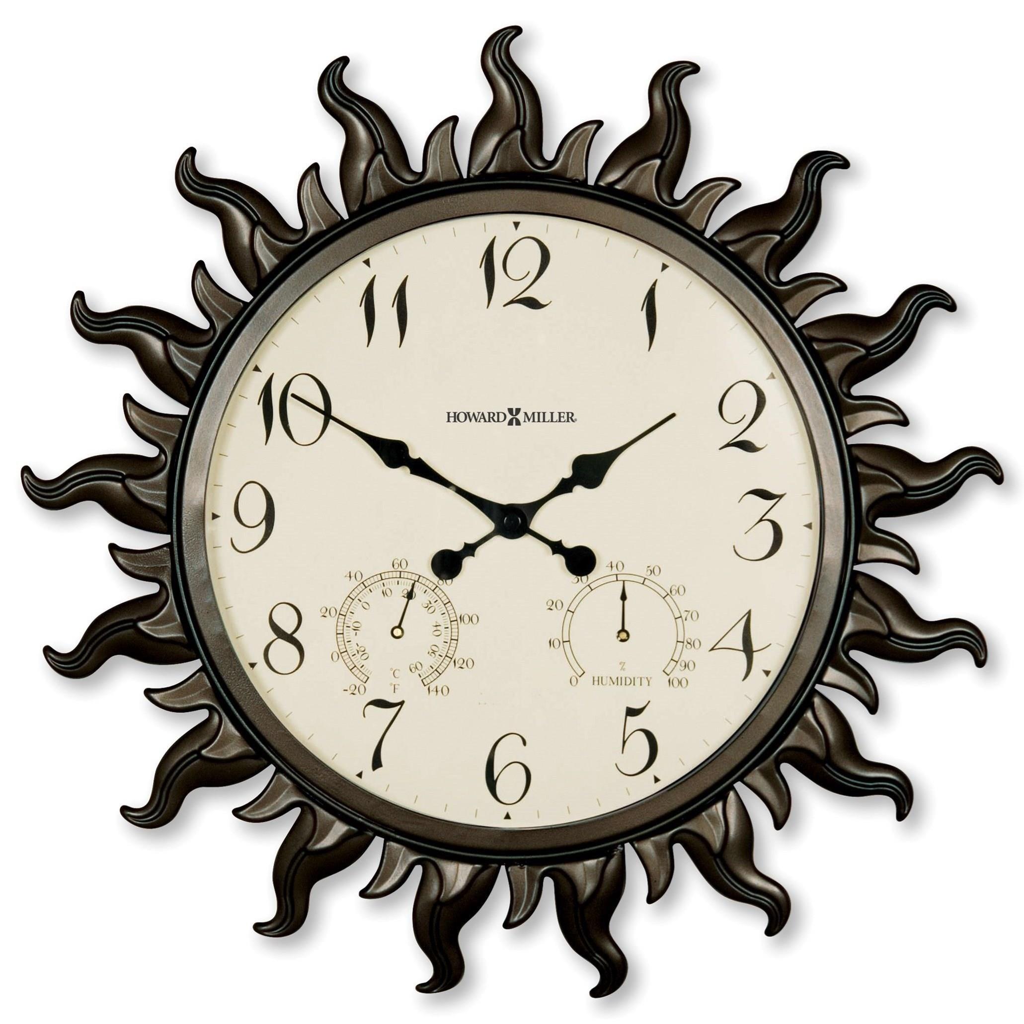 Wall Clocks Sunburst II Wall Clock by Howard Miller at Alison Craig Home Furnishings