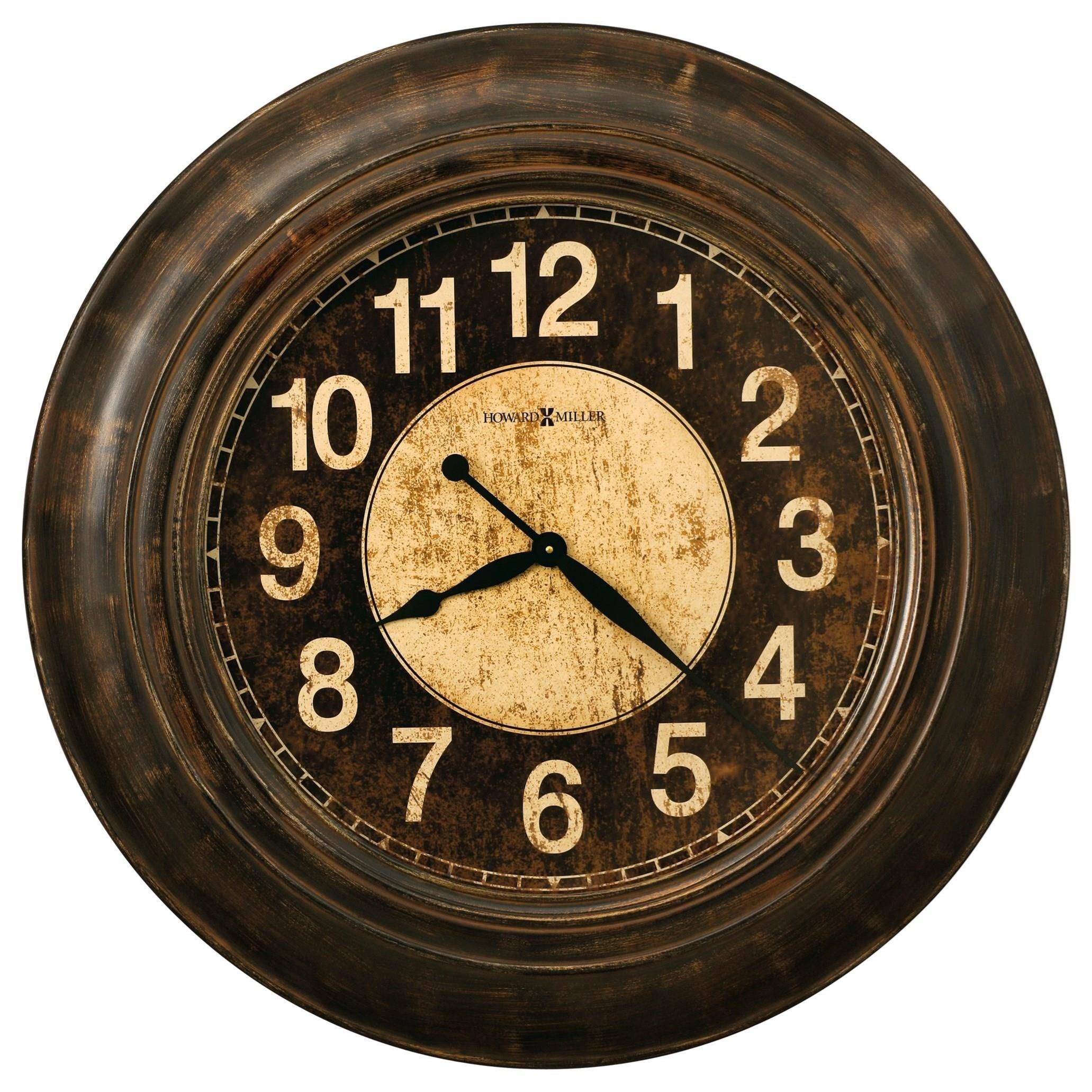 Wall Clocks Bozeman Round Wall Clock by Howard Miller at Esprit Decor Home Furnishings