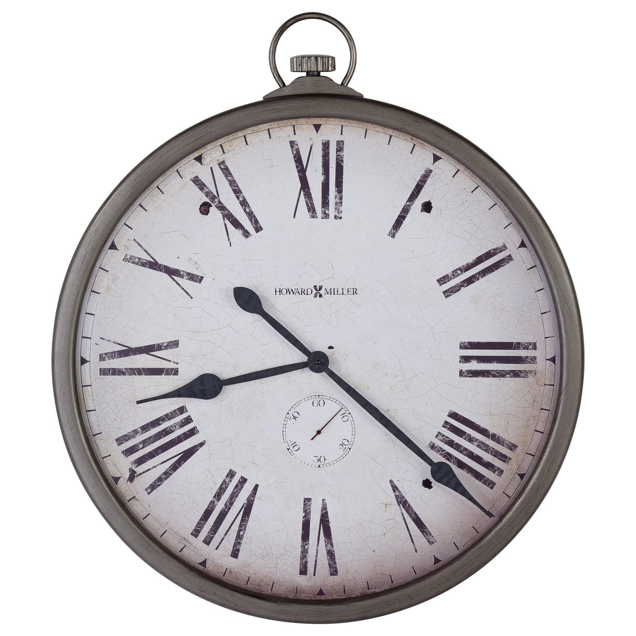 Wall Clocks Pocket Watch Wall Clock by Howard Miller at Lindy's Furniture Company