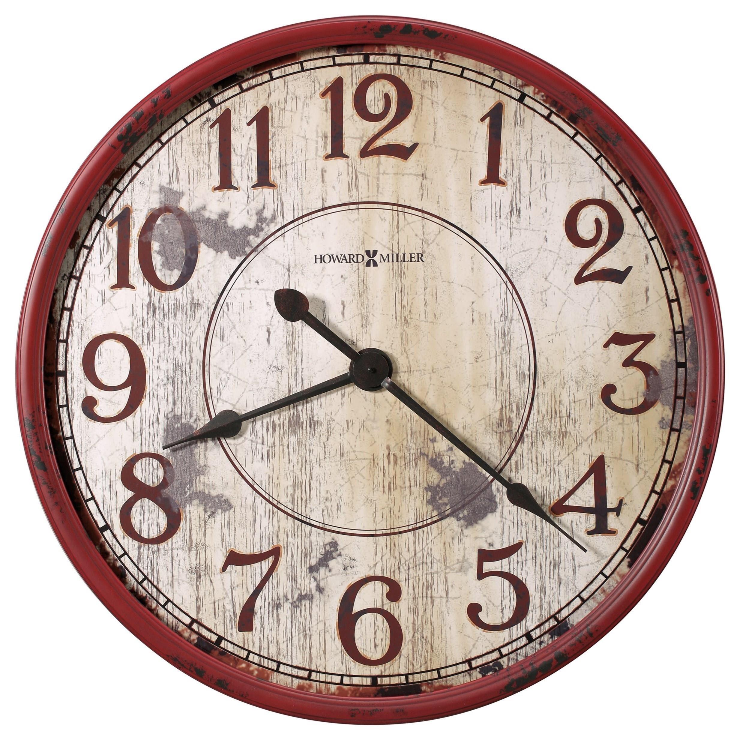 Wall Clocks Back 40 Wall Clock by Howard Miller at Lindy's Furniture Company