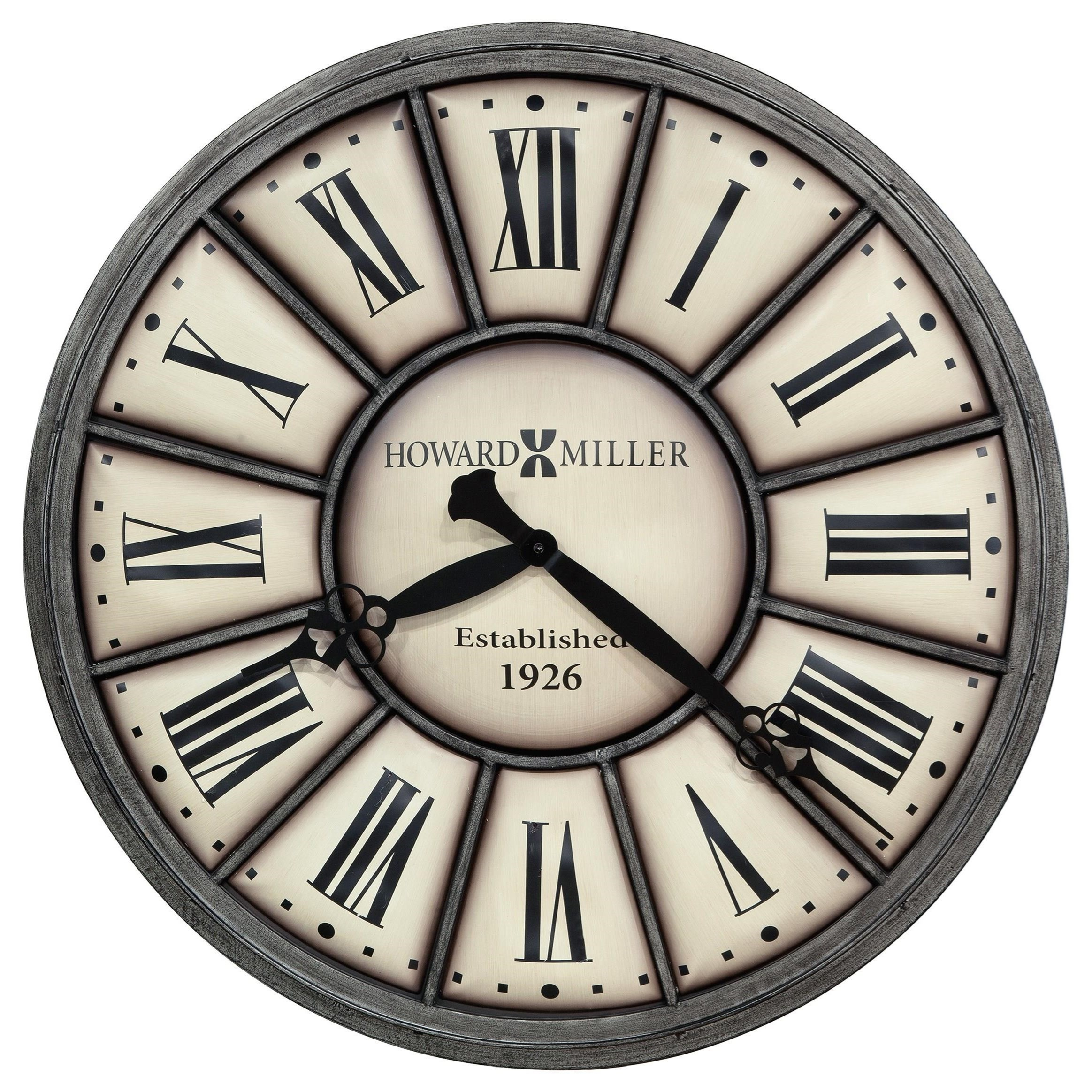 Wall Clocks Company Time II Wall Clock by Howard Miller at Prime Brothers Furniture