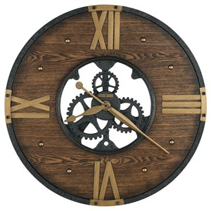 Murano Round Wrought Iron Wall Clock