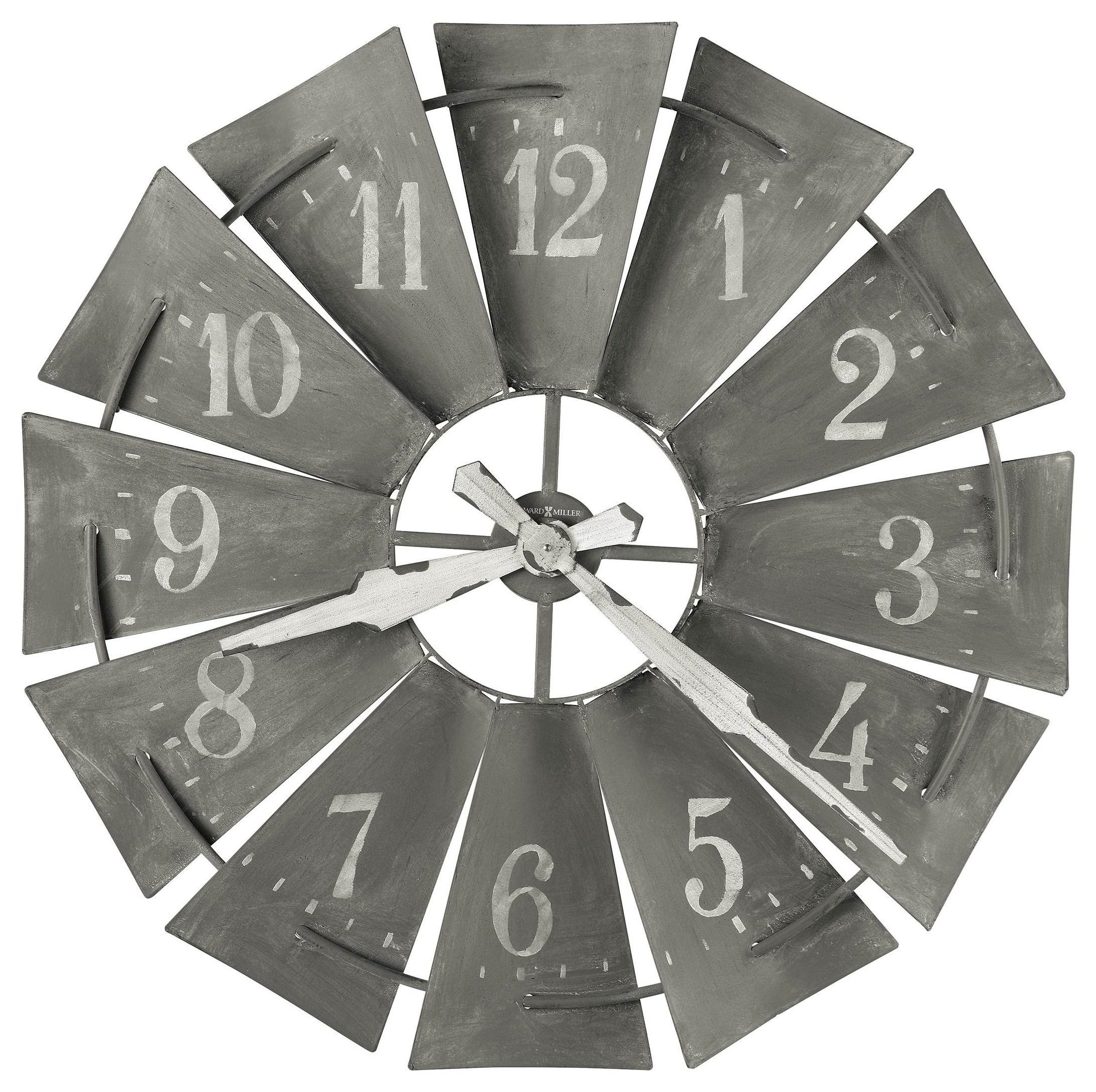 Wall Clocks Windmill Wall Clock by Howard Miller at HomeWorld Furniture