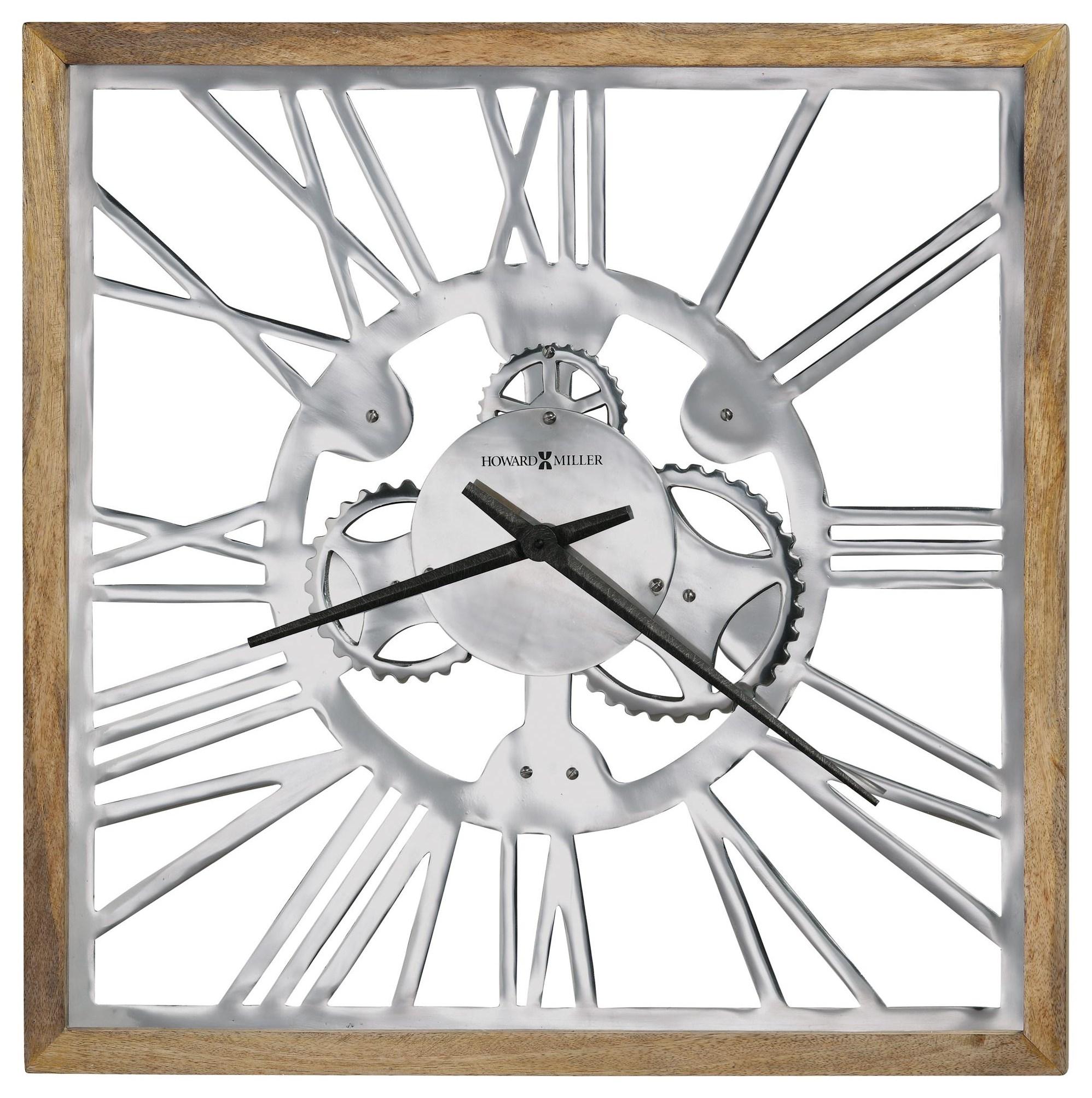 Wall Clocks Mecha Wall Clock by Howard Miller at HomeWorld Furniture