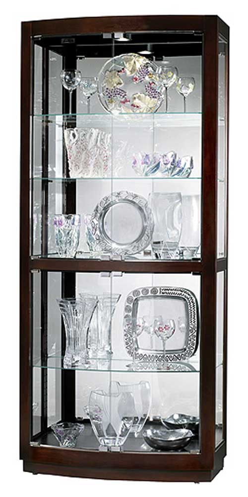 Cabinets Bradington Collectors Cabinet by Howard Miller at Alison Craig Home Furnishings