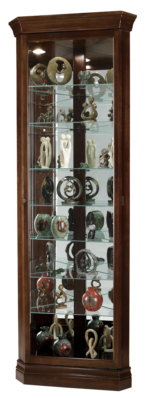 Corner Curios Drake Display Cabinet by Howard Miller at HomeWorld Furniture