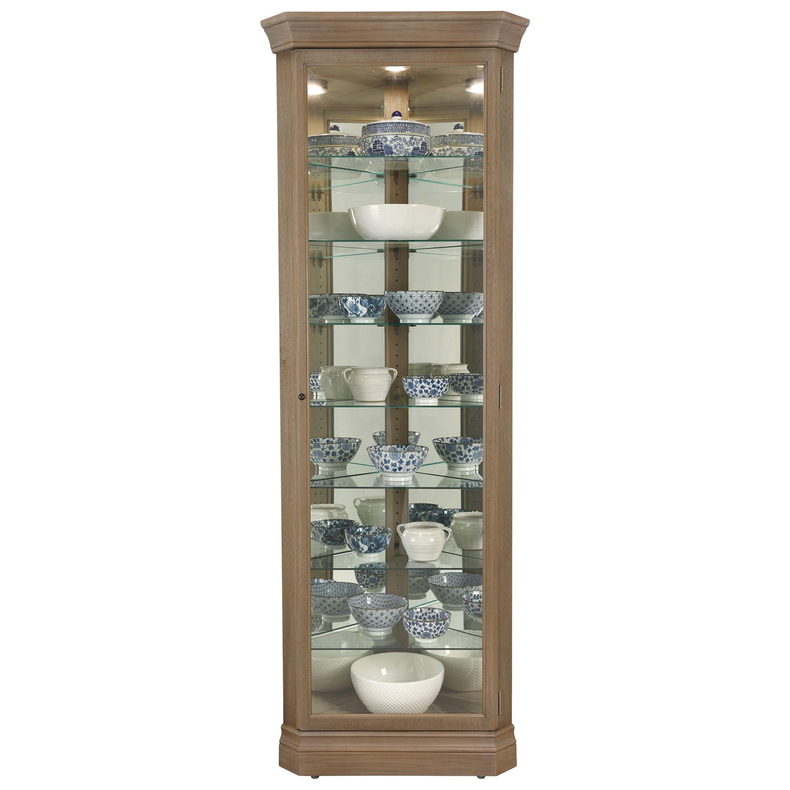 Gable Gable Corner Curio Cabinet by Howard Miller at Morris Home