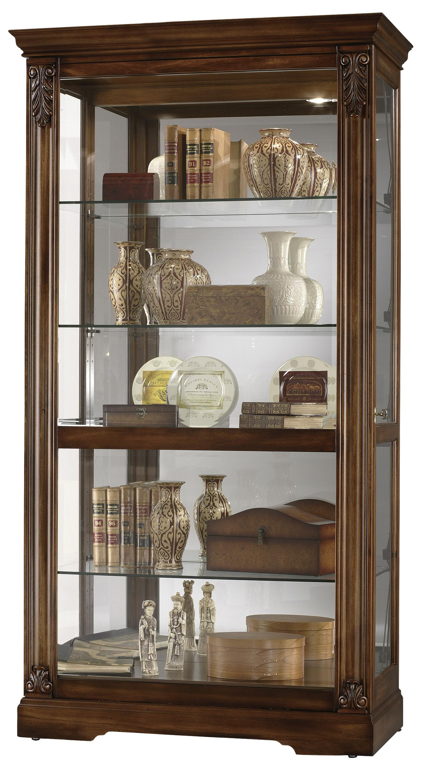Furniture Trend Designs Curios Andreus Display Cabinet by Howard Miller at Mueller Furniture