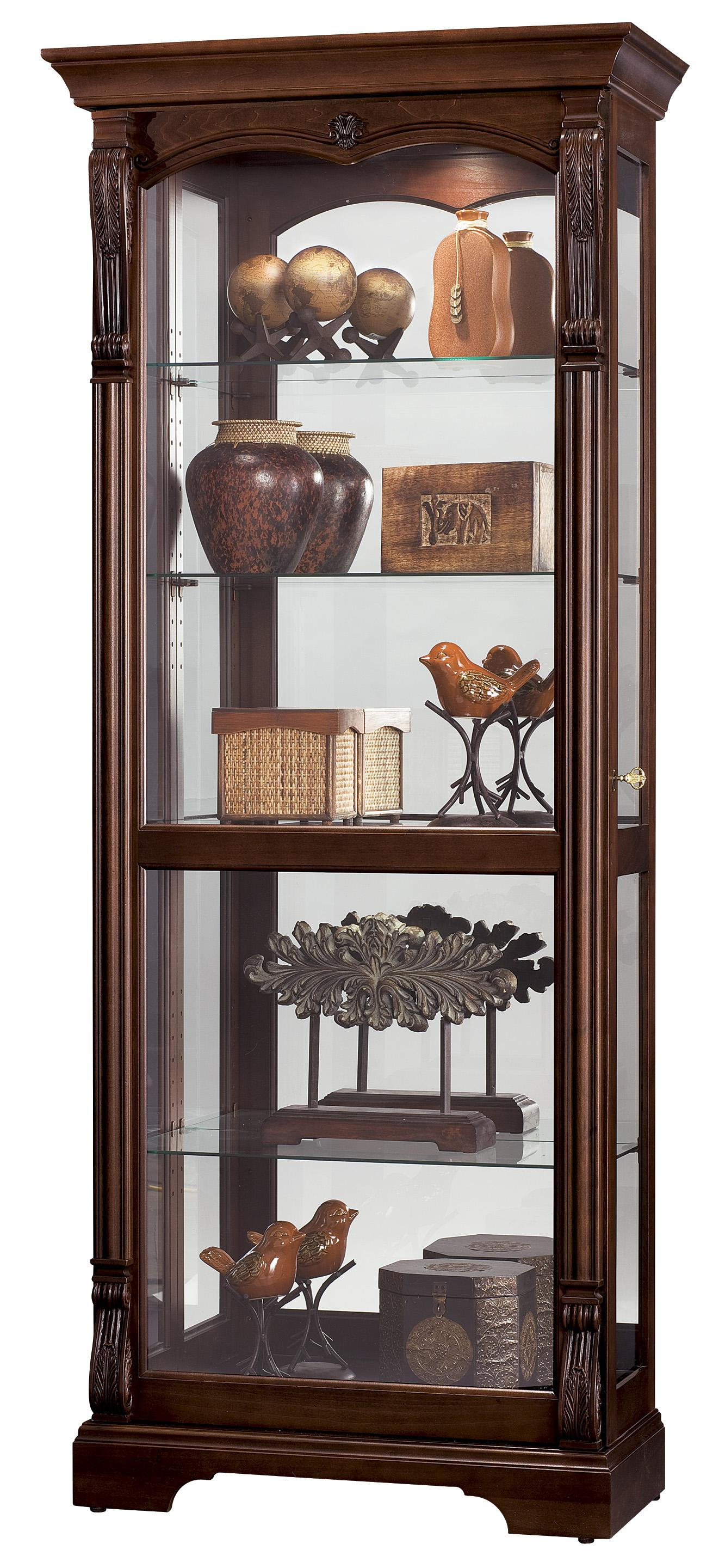 Furniture Trend Designs Curios Bernadette Display Cabinet by Howard Miller at Mueller Furniture