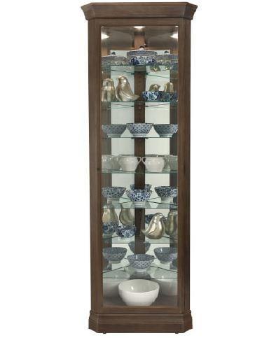 Gable - Gable Corner Curio Cabinet by Howard Miller at Morris Home