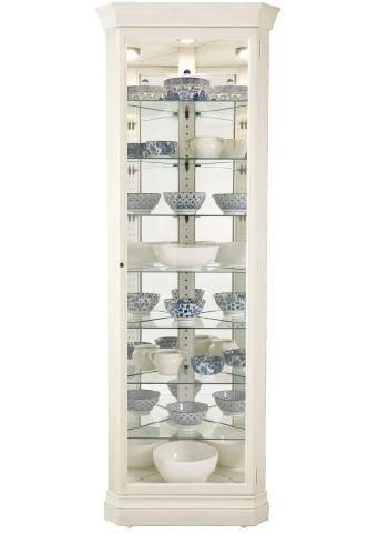 Gable - Gable Corner Curio Cabinet by Howard Miller at Morris Home