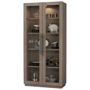 Morrissey II Cabinet with Locking Glass Door