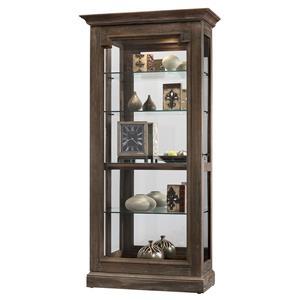 Caden II Curio Cabinet With Sliding Door