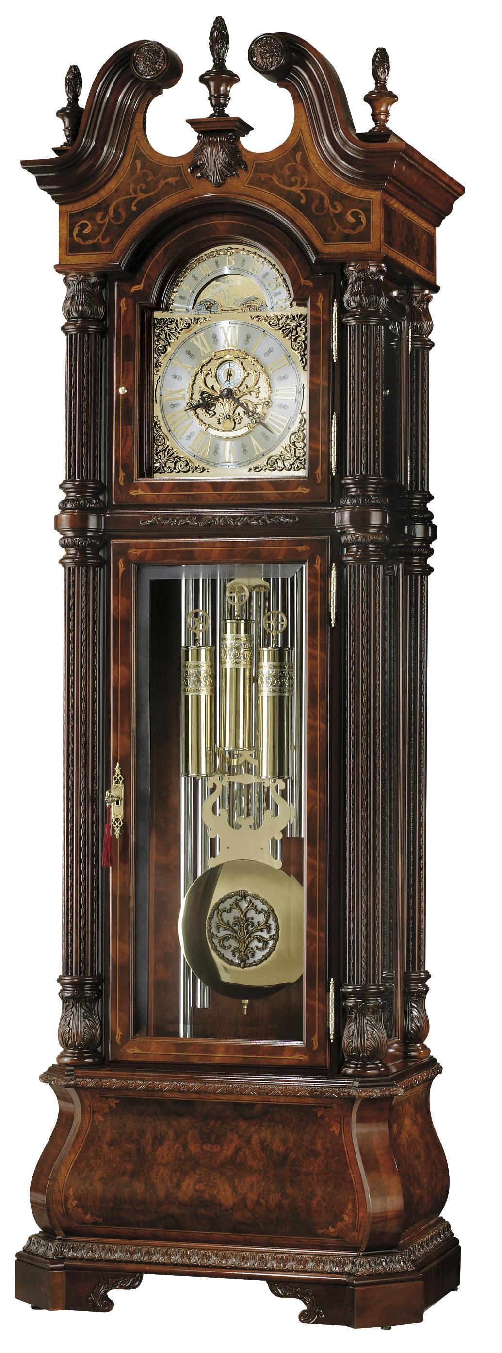 Clocks J.H. Miller II Grandfather Clock by Howard Miller at Alison Craig Home Furnishings