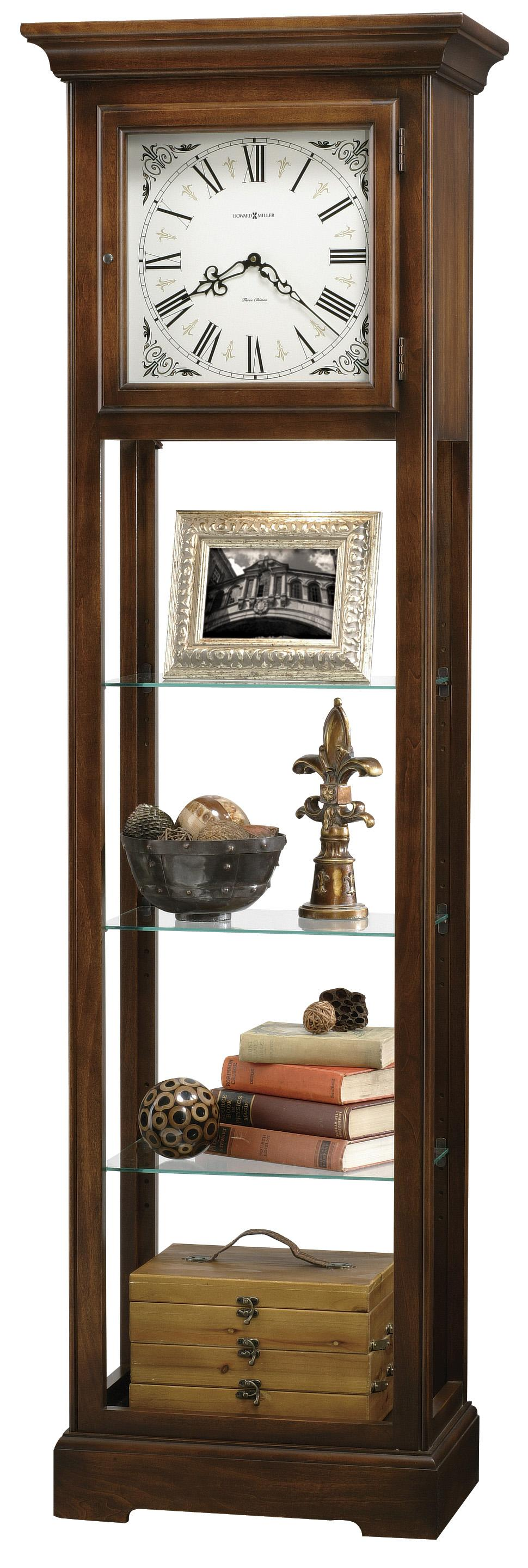 Clocks Le Rose Grandfather Clock by Howard Miller at Alison Craig Home Furnishings