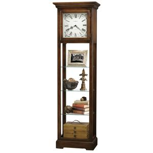 Le Rose Grandfather Clock with Flat Top Pediment