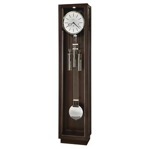 Modern Grandfather Clock with Chrome Finished Accents