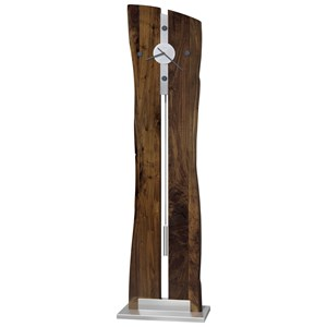 Enzo Live Edge Rustic Floor Clock