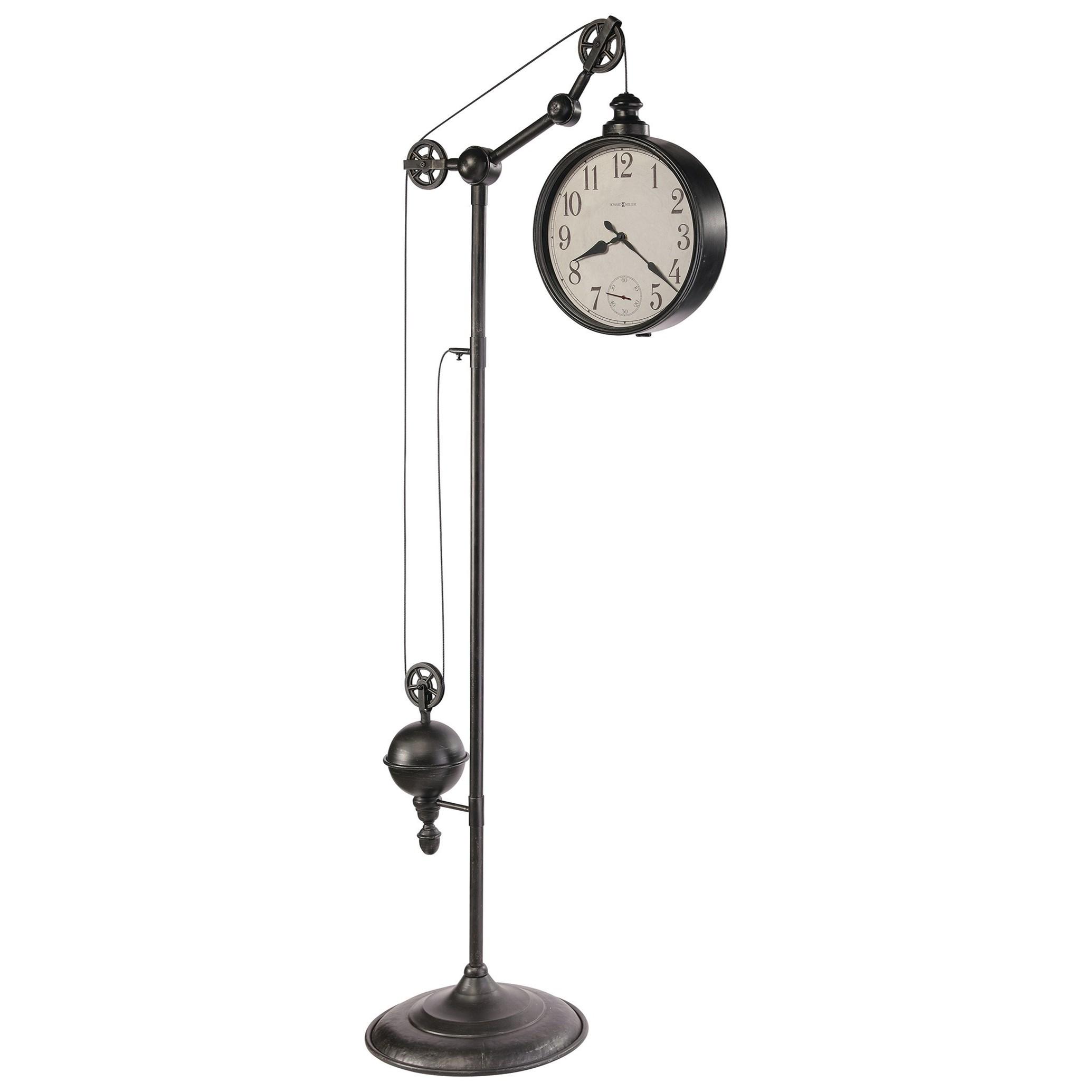 Clocks Pulley Time II Floor Clock by Howard Miller at Mueller Furniture