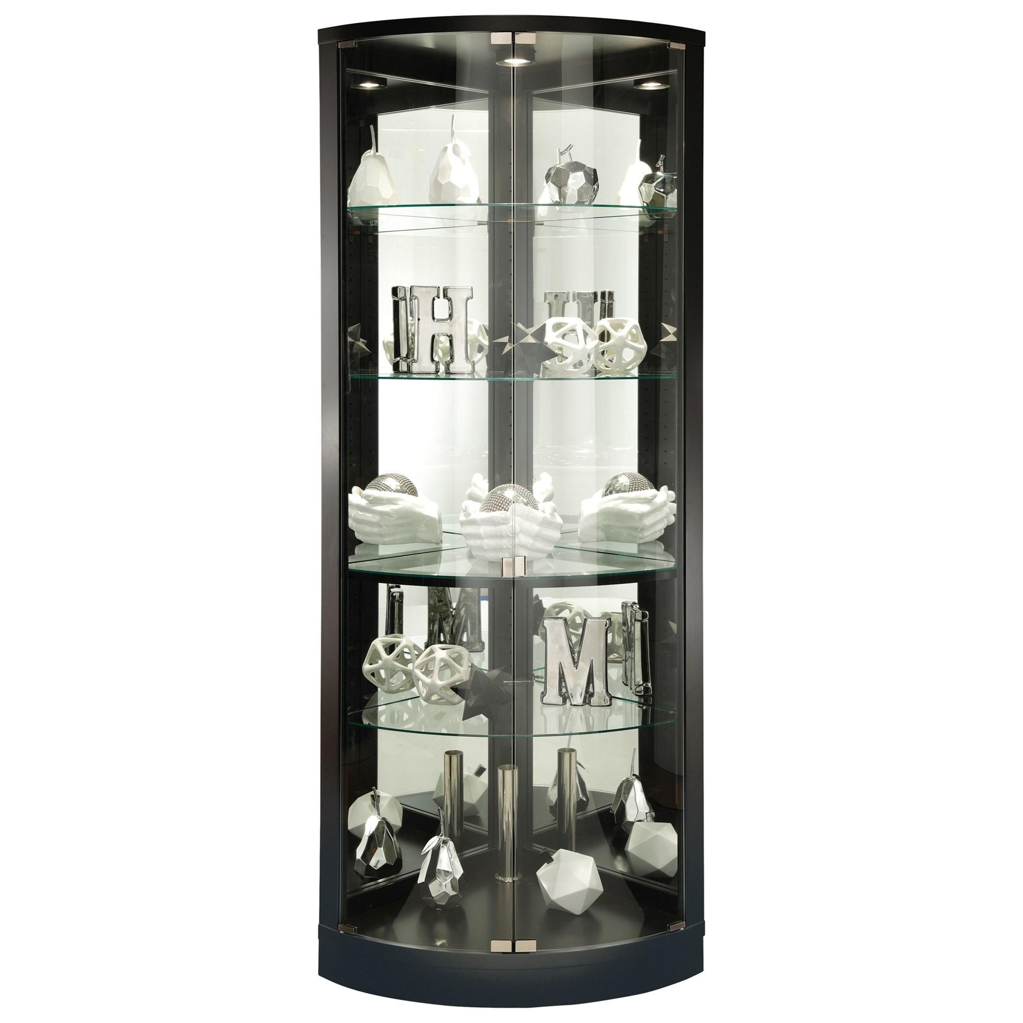 Curios Jaime Display Cabinet by Howard Miller at HomeWorld Furniture