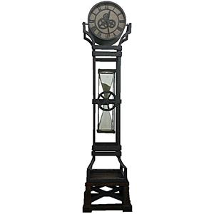 Iron Floor Clock with Chime and Hour Glass