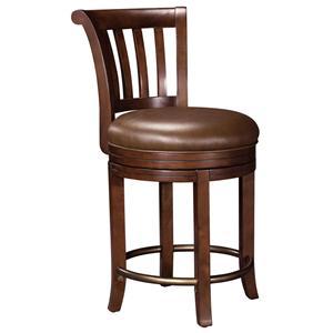 Upholstered Swivel Pub Stool