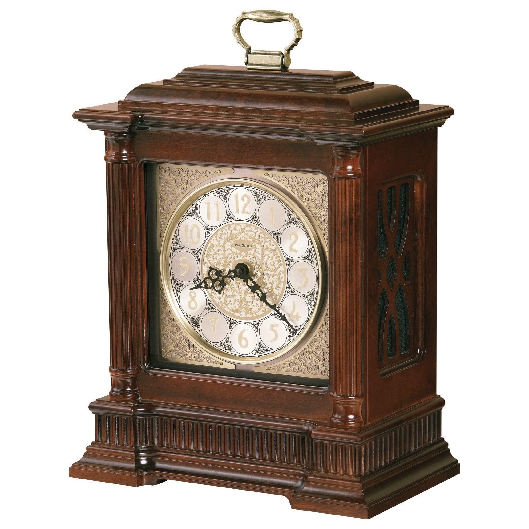 Table & Mantel Clocks Akron Mantel Clock by Howard Miller at Mueller Furniture