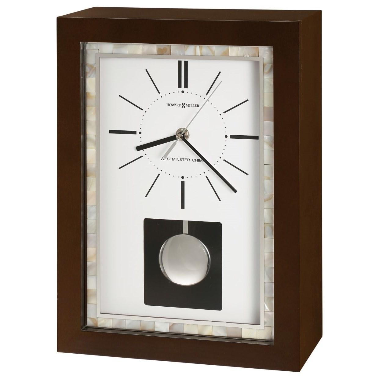 Table & Mantel Clocks Holden Mantel Clock by Howard Miller at Mueller Furniture