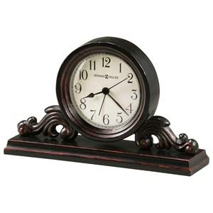 Bishop Mantel Clock with Acanthus Leaf Carved Details