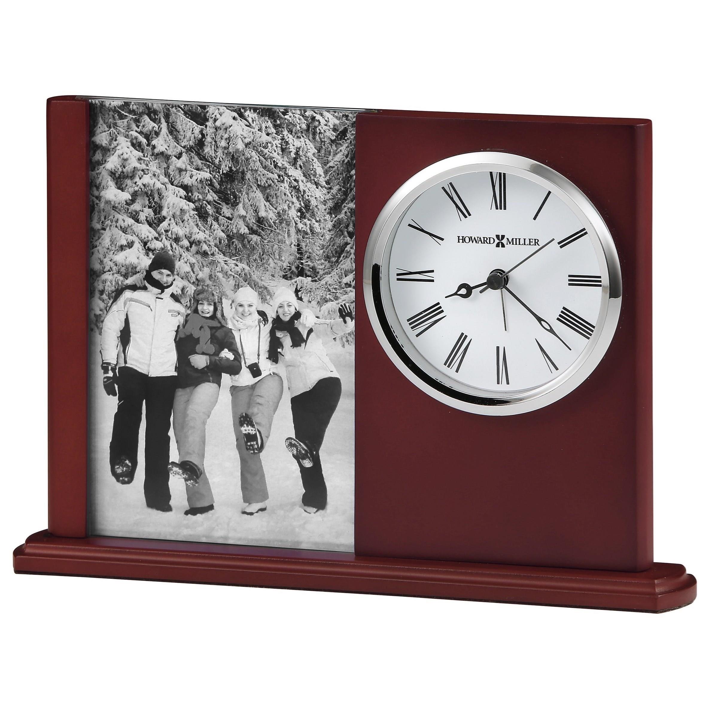 Table & Mantel Clocks Portrait Caddy II Table Clock by Howard Miller at Mueller Furniture